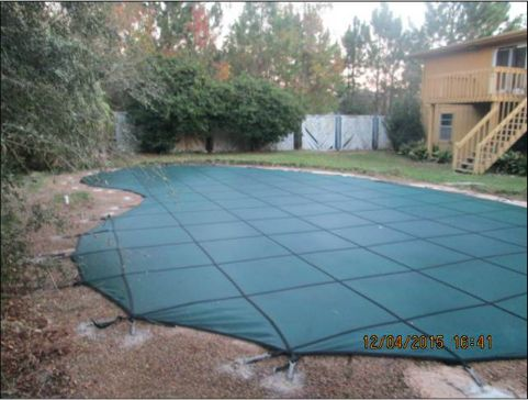 Pool Cover protects Children as well as keeps your pool clean.