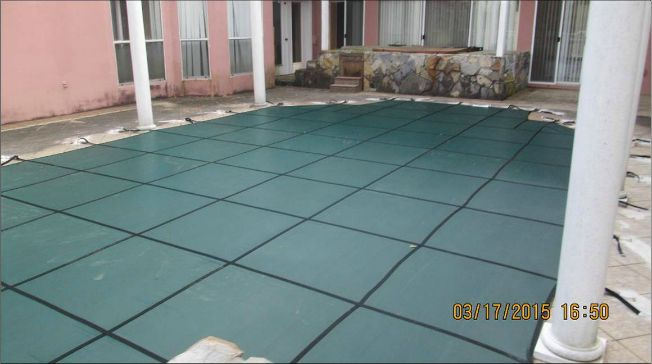Pool Cover sized to fit any swimming pool.