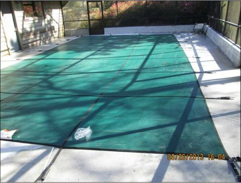 Pool Cover helps protect your pool.