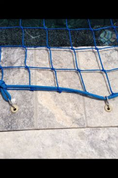 Close Up View of Pool Safety Net Installed.