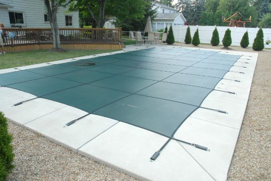 Original Mesh Green Pool Safety Cover.